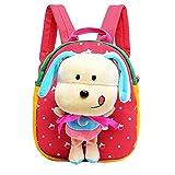51 UzUraK7L. SL160  UK BEST BUY #1Moolecole 3D Cartoon Cute Animal Schoolbags Hiking Travel Preschool Toddler Backpack Kids Kindergarten Enviromental Kids Shoulder Bag Red price Reviews uk