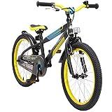 BIKESTAR Kinderfahrrad 20 Zoll für Mädchen und Jungen ab 6 Jahre | 20er Kinderrad Mountainbike | Fahrrad für Kinder Schwarz & Gelb