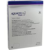 AQUACEL Ag Foam nicht adhäsiv 15x20 cm Verband 5 St Verband preisvergleich bei billige-tabletten.eu