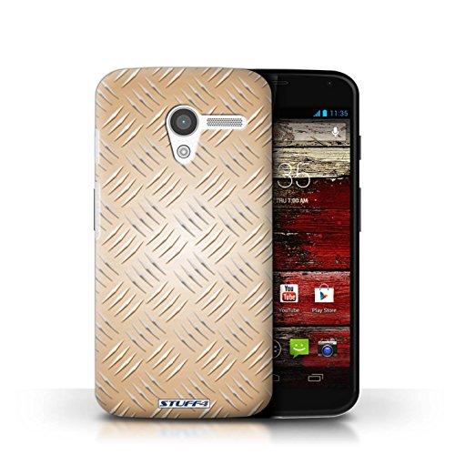 Kobalt® Imprimé Etui / Coque pour Motorola MOTO X / Or conception / Série Motif en Métal en Relief Or