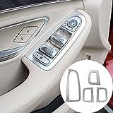 4pcs Porte Fenêtre Lift Button Coque Trim pour Mercedes Benz Classe C W205C180C200Glc26020152016Accessoires Style Intérieur de voiture Conduite à gauche