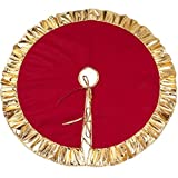 Ruby Stores - 36 inch Red Christmas Tree Skirt New Year Xmas Tree Carpet Merry Christmas Decorations for Home Outdoor DécorChristmas Tree Skirts
