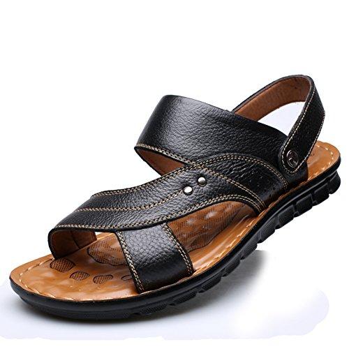 Herren Sandaletten/Atmungsaktive Schuhe/ massage Schuhe/Badeschuhe/Anti-Rutsch Komfort casual Schuhe Leder B