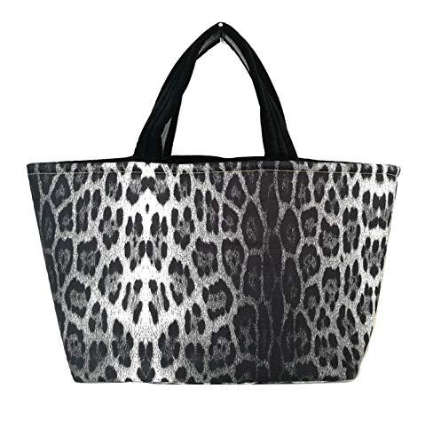 Roberto Cavalli Strandtasche Damen Shopping Baumwolle C7J101430230 schwarz maculato