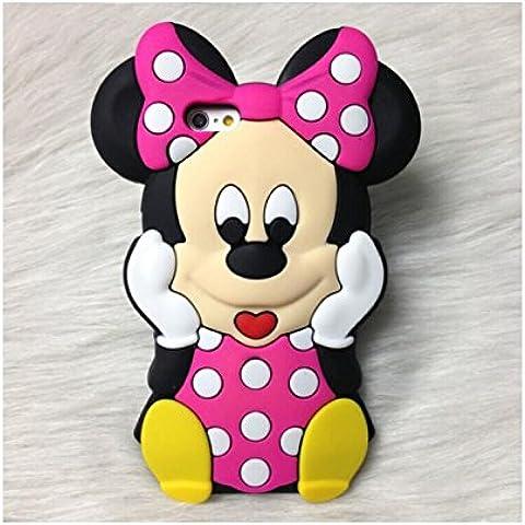 Generica - Funda 3D De Silicona Minnie Mouse Para Iphone 6 Plus Y 6S Plus