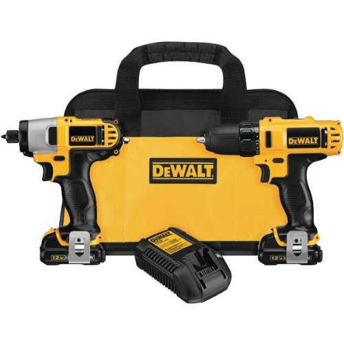 Advanced DeWalt DCK211S2 10.8 Volt Compact Drill Driver/Impact Driver Twin Pack **