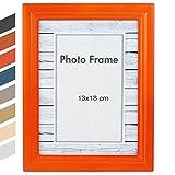 Jago - Cadre photo - format 13 x 18 cm - en MDF - orange - TAILLE ET COULEUR AU CHOIX