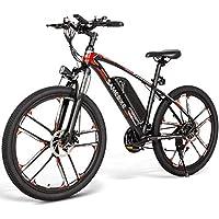 Carsparadisezone Elektrofahrrad MTB 26 Zoll E-Bike mit 48V 8Ah Lithium-Akku, Hochfestem Stoßdämpfung und 21 Gang Shimano…