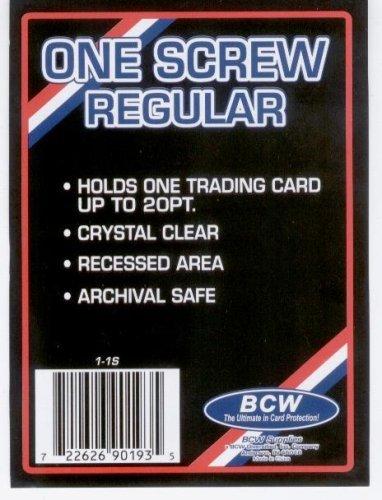 1 (One) BCW 1 Screw Card Holder - 20 Pt. - Screwdown - Baseball Card Display Case - Sports Screw Down Card Holder by BCW