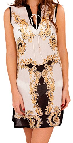 Chiffon Sommer Ladies Beach Kaftan Top Womens Tiger Print Cover Up Boutique kleine 8 bis 10 -