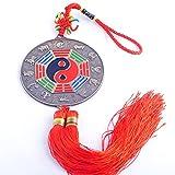 Feng Shui Sternzeichen Anhänger Bagua Spiegel, Chinesischer Knoten, Fransen Mxsabrina W, Rot, Inkl. Armband, Y1314, SKU: