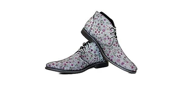 00493d9e1a9034 PeppeShoes Modello Vintagio - 39 - Handgemachtes Italienisch Leder Herren  Bunt Stiefeletten Chukka Stiefel - Rindsleder Weiches Leder - Schnüren   Amazon.de  ...