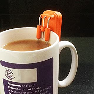 Magnifico Liquid Level Indicator for blind and partially-sighted - bright orange - safety kitchen aid that makes a high-pitched sound to warn when cup is full. Prevents drink from spilling