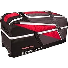 Gray-nicolls Predator 3 1500 Cricket Wheelie Holdall Team Kit Bag Red/black/grey