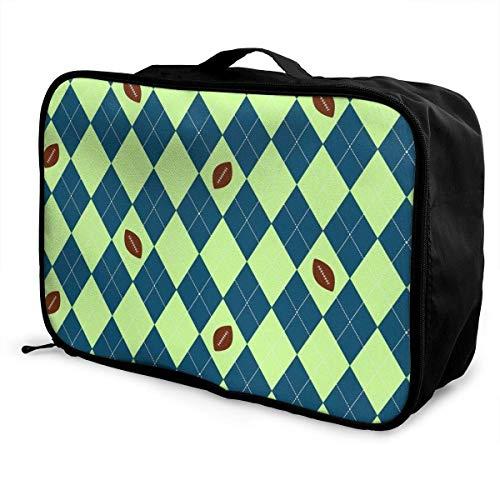 Qurbet Reisetaschen,Reisetasche, Portable Luggage Duffel Bag Seahawks Seattle Football Argyle Travel Bags Carry-on in Trolley Handle -