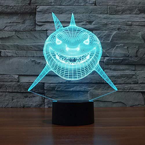Hai Neuheit Licht 7 Farben Ändern 3D Vision Nachtlicht Kreative Touch Desktop Lampen Visuelles Licht 3D Lampe Dekoration han-9589 -