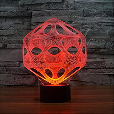 JUSUBA Abstract 3D luci led visivo luci regalo Atmosfera Table Lamp tocco di colore