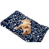 Traumzimmer Warm Pet Nest Hund, Pet - Matte Hund Katze Flanell Decke Bett Weichen Kissen Zwinger KäFig Pad Haus Abwaschbar (Größe: XL, Dunkelblau)