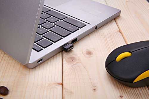 Kabellose Tastatur und Maus, Jelly Comb 2.4G Ultra Dünne Bewegliche Drahtlose Tastatur und Maus Combo (QWERTZ, Deutsches Layout) Full-Size Ergonomische Kabellose Flüsterleises Tastaturdesign, Gelb &Schwarz - 9