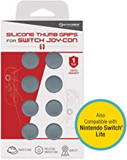 Hyperkin Silicone Thumb Grips for Nintendo Switch Joy-Con (Neo Gray, Pack of 8)