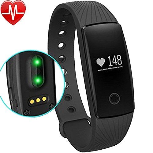 Fitness Tracker, Willful® Activity Tracker Cardio HR Bluetooth Pedometro Cardiofrequenzimetro da Polso Orologio Bracciale Braccialetto Fitness Watch Band Smartband Smartwatch Smart Watch per Android iOS Smartphones like iPhone Samsung Sony Huawei LG , per Sport Running Walking Donna Uomo (Contapassi, Calories, Monitor del Sonno, Notifiche APP (Whatsapp, Facebook, Skype ...), Notifiche Chiamate & SMS, Fotocamera Cattura Remota, Sveglia)