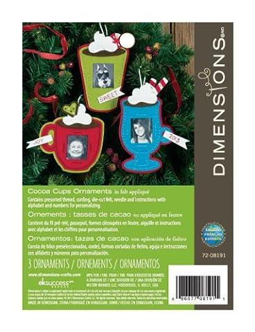 Dimensions D72-08191 Felt Applique, Ornament, Kakao-Tasse