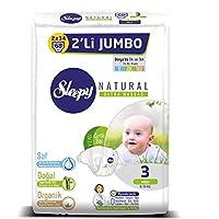 Sleepy Natural 2'li Jumbo Bebek Bezi, 3 Beden, Midi, 68 Adet