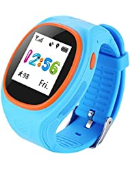 Shiningup Kinder GPS Smart Watch GPS Tracker Armband SOS Call Armbanduhr für Kinder von Apple und Android Phone APP