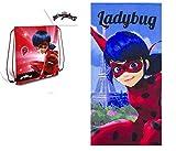 Lady Bug Miraculous Set Sacca + Telo Mare Ladybug