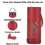Tragbare Schutzhülle für Amazon Alexa Echo Plus, schwarz Freitag Deals Cyber Montag Deals Premium PU Leder Fall für Outdoor Sport Camping Küche Wohnzimmer Schutzhülle für Echo Plus