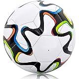 Owfeel Tamaño Oficial 5Entrenamiento Match a prueba de agua de fútbol bola blanco colorido de la barra