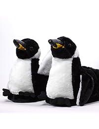 Sleeper'z – Pinguino – Zapatillas de casa animales originales y divertidas – Adultos y Niños - Hombre y Mujer