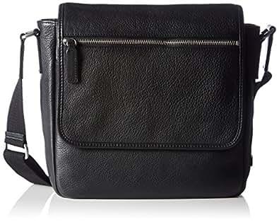 Ecco ECCO Gordon, Men's Shoulder Bag, Black (Schwarz (90000), 25x25x9 cm (B x H x T)