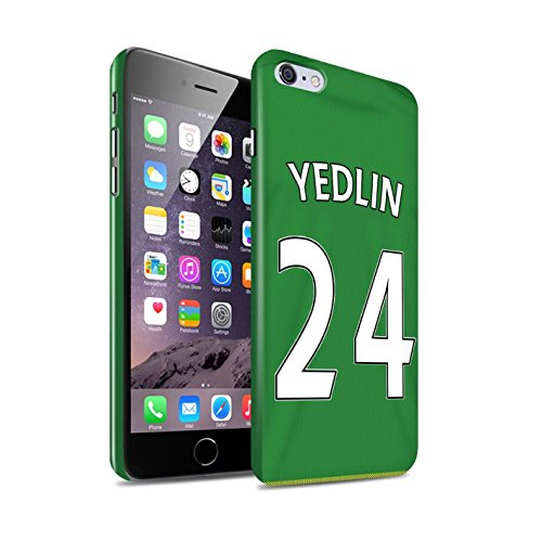 Offiziell Sunderland AFC Hülle / Glanz Snap-On Case für Apple iPhone 6S+/Plus / O'Shea Muster / SAFC Trikot Away 15/16 Kollektion Yedlin