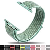 Iyou Sport Loop Armband Compatible with Apple Watch 42MM, Adjustable Closure Wrist Strap Lightweight Breathable Nylon Replacement Band Compatible with Apple Watch Series 4/3/2/1