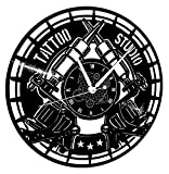 Instant Karma Clocks Orologio in Vinile da Parete Vintage Handmade Tatuaggio Tribale Negozio Studio Tattoo