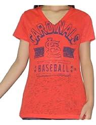 MLB St. Louis Cardinals femmes V-Neck T-Shirt (Vintage Look)