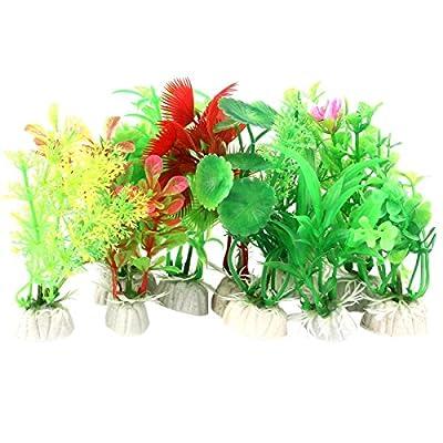 VORCOOL 10 Stk Aquarium Pflanze Künstliche Aquarium Fish Tank Wasser Pflanze Kunststoff Dekoration Ornament (Zufällige Farbe)