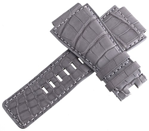 Bell & Ross Uhrenarmband Leder grau 24mm
