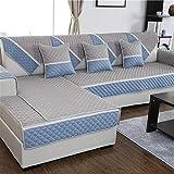 FERZA Home Moderne einfache Sofa Handtuch Vier Jahreszeiten trifft Flachs Sofakissen Winter Stoff Anti-Rutsch Wohnzimmer Sofa Schonbezug-A 70x70cm (28x28 Zoll)