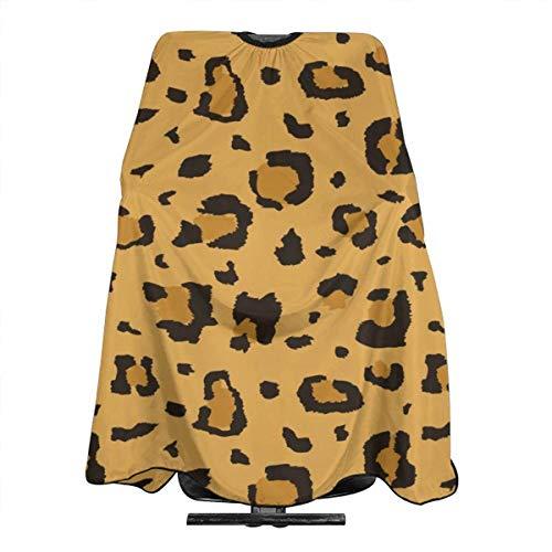 Haarschnitt-Schutzblech-Haar-Hausmantel-Umhang, African Cheetah Leopard Professional Barber Supplies Tie Dye Perfection Cover Cloak Hair Dyed Hair Waterproof Cloth Anti-Static Hairdressing (Für Kleidung Cheetah Kinder)
