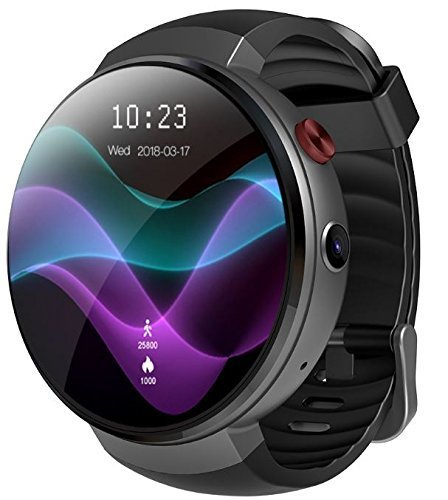 LEMFO LEM7 - Android 7.0 4G LTE Smartwatch, 2MP camera watch phone, MT6737 16GB ROM, built-in translator, bluetooth/GPS/Heart rate monitor - Black