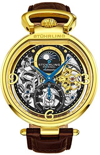 Stührling Original Herren Skelett-Armbanduhr