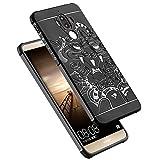 OFU® für Huawei Mate 9 Hülle,perfekt TPU Schutzhülle Tasche Case Cover Ultradünn Kratzfest Weich Flexibel Silikon für Huawei Mate 9-schwarz - 2