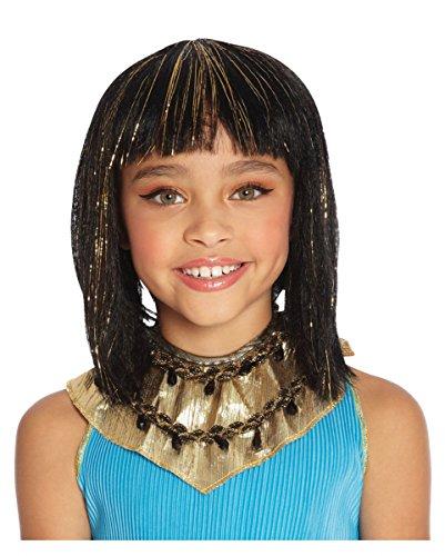 Kleopatra Kinderperücke 28cm für Fasching & (Perücke Ägyptische)