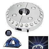 Außenleuchte 24 + 4 LED Abnehmbare Camping-Lampe Veranda Regenschirm Außenlicht Garten Hof Rasen Nachtlicht