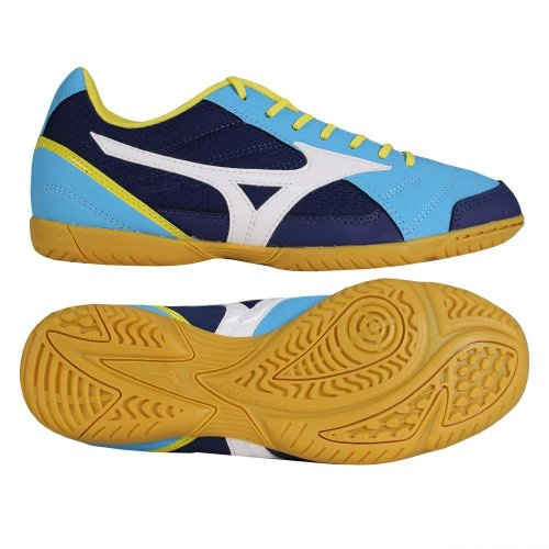 Mizuno Scarpe Calcetto Indoor Uomo - Sala Club Indoor - Q1GA1451-28 - DivaBlue/LimePunch/White-45