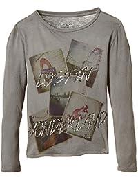 DDP G1KLO0B - T-shirt - Imprimé - Col rond - Manches longues - Fille
