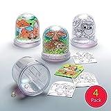 Baker Ross Ltd- Baker Ross Lot de 4 boîtes à Boules de Neige pour Enfants, AR618, Couleurs Assorties