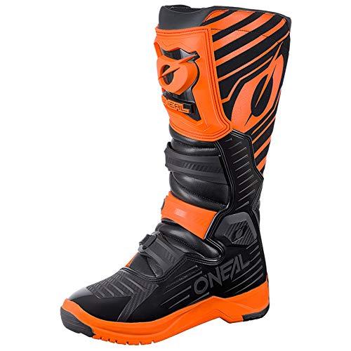 O'Neal RMX Boot Motocross MX Stiefel Schuhe Motorrad Enduro Offroad Trail Cross Knöchel Schutz, 0333-4, Farbe Orange, Größe 45 -